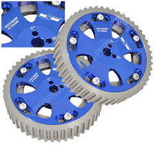 2pc Blue Dohc Adjustable Cam Gears Kit For Mitsubishi Evo Eclipse Dsm 4G63