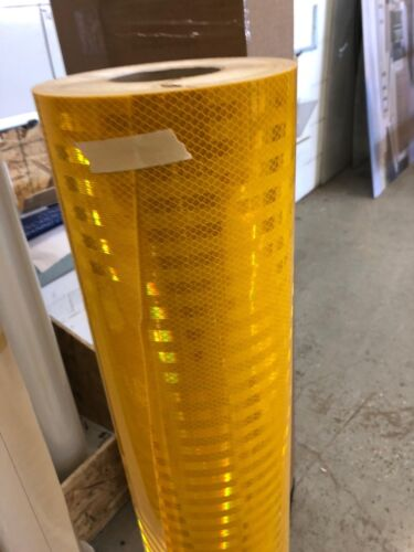 "3M 3930 36"" x 72"" Yellow High Intensity Prismatic REFLECTIVE VINYL"