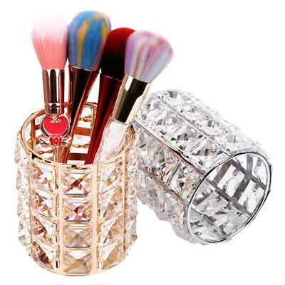 makeup brush holder crystal storage organizer bucket pens