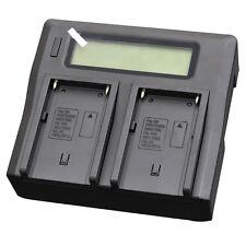 Dual LCD Battery Charger For Sony NP-FM50 FM30 FM51 NP-FM70 FM71 QM70 FM90 FM91