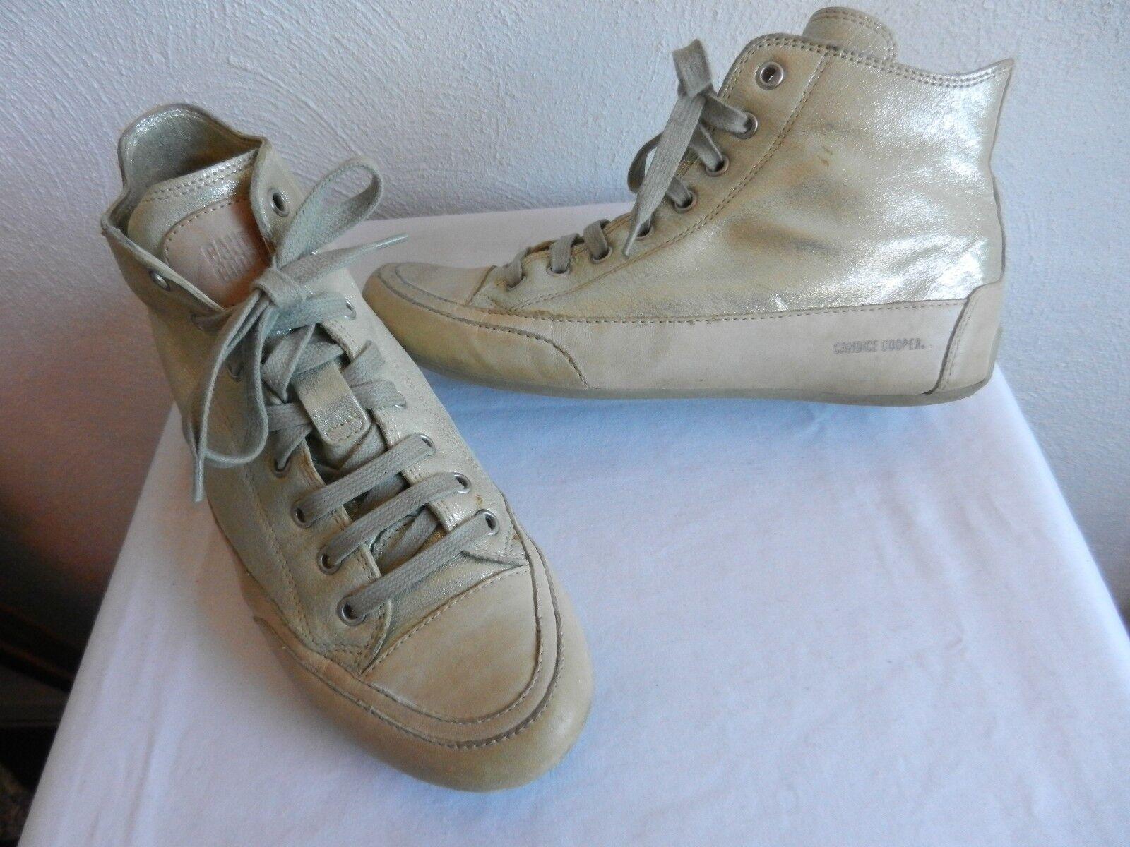 Candice Cooper Halbschuhe Sneaker Übergang Schuhe gold Metallic Gr. 37