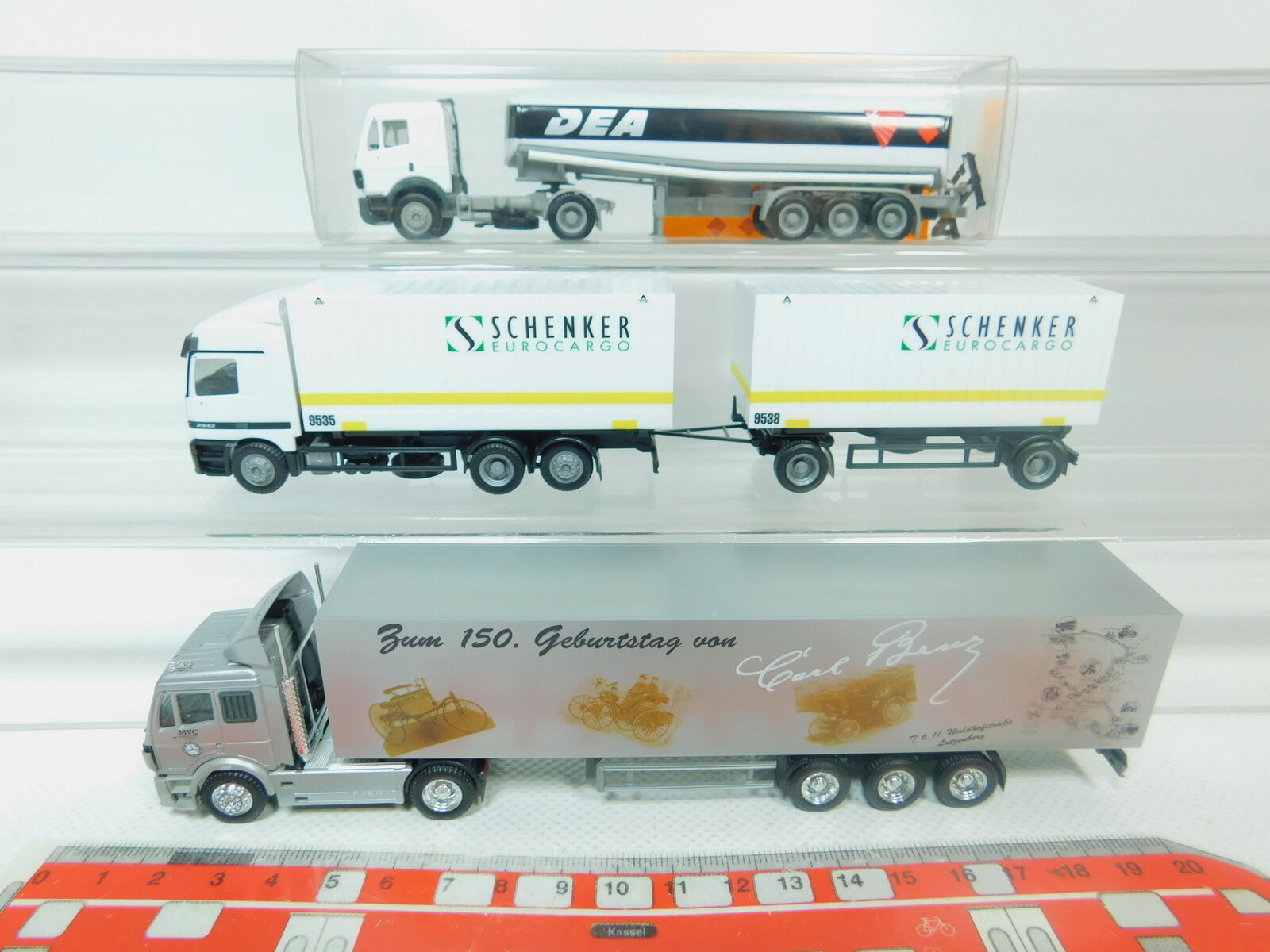 BO927-0,5 x Herpa H0     1 87 Camion MB   Mercedes   Dea + Schenker + Carl 8bc24f