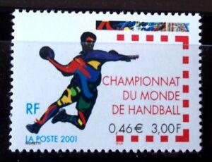 SELLOS-FRANCIA-2001-3367-DEPORTES-HANDBALL-1v