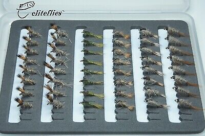 Eliteflies 48 Hares Ear Nymph Selection Barbed trout fly fishing flies bug lake