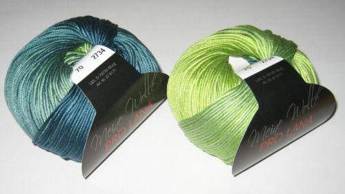 50 g PRO LANA Ocean Cotton Baumwolle 100g//9,90€ Wolle Garn Häkeln Stricken 1394