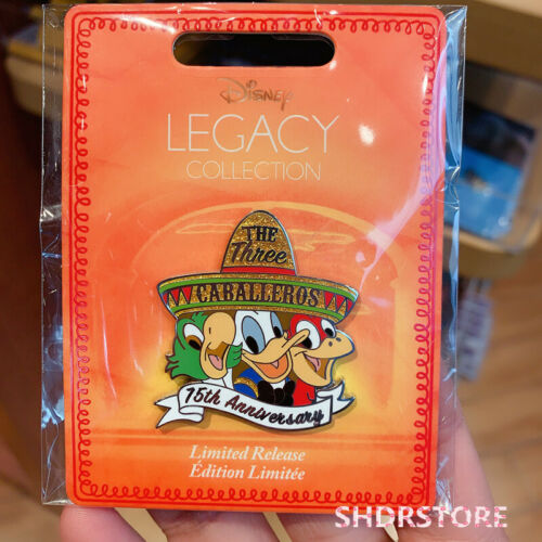 SHDR Disney Pin 2020 donald duck three caballeros Disney store limited release
