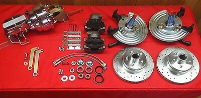 MOPAR CHRYSLER A BODY PLYMOUTH DISC BRAKE CONVERSION  5 ON 4 BOLT PATTERN CHROME