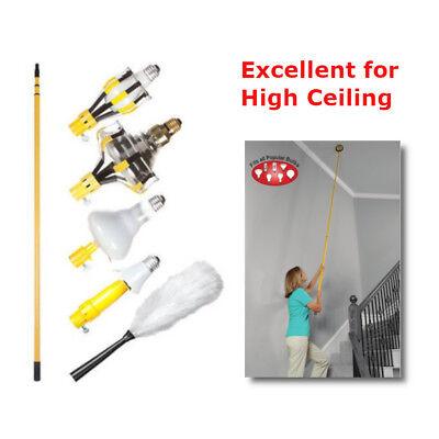 Light Bulb Changing Kit 11 Ft Pole High