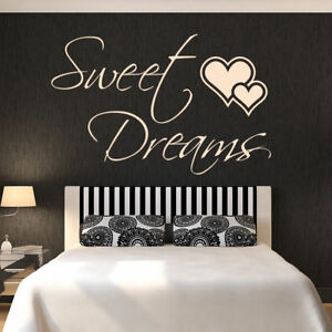 Sweet Dreams Quote Vinyl Removable Wall Art Sticker Home Decoration Gift