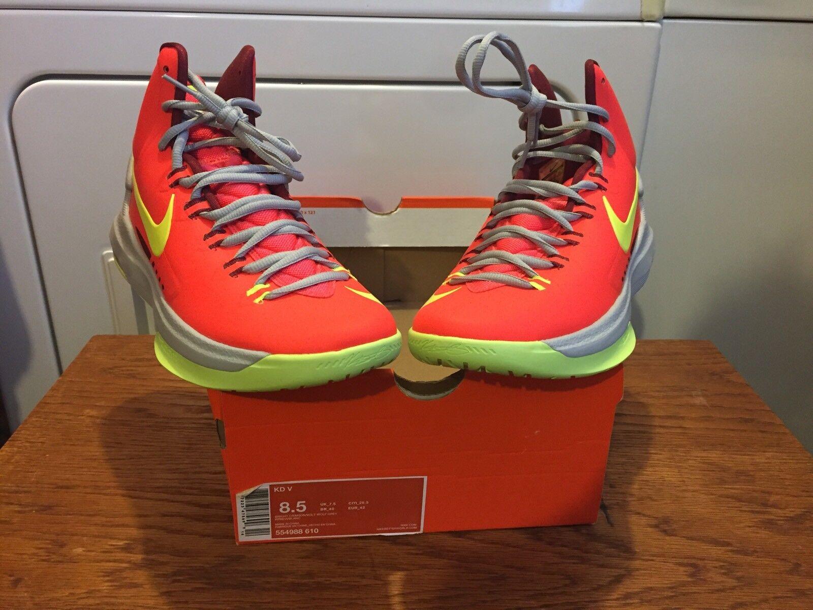 Nike Zoom Kevin Durant KD naranja V 5 MVP Crimson naranja KD Volt Wolf Gris SZ 8,5 playoffs 7003bd