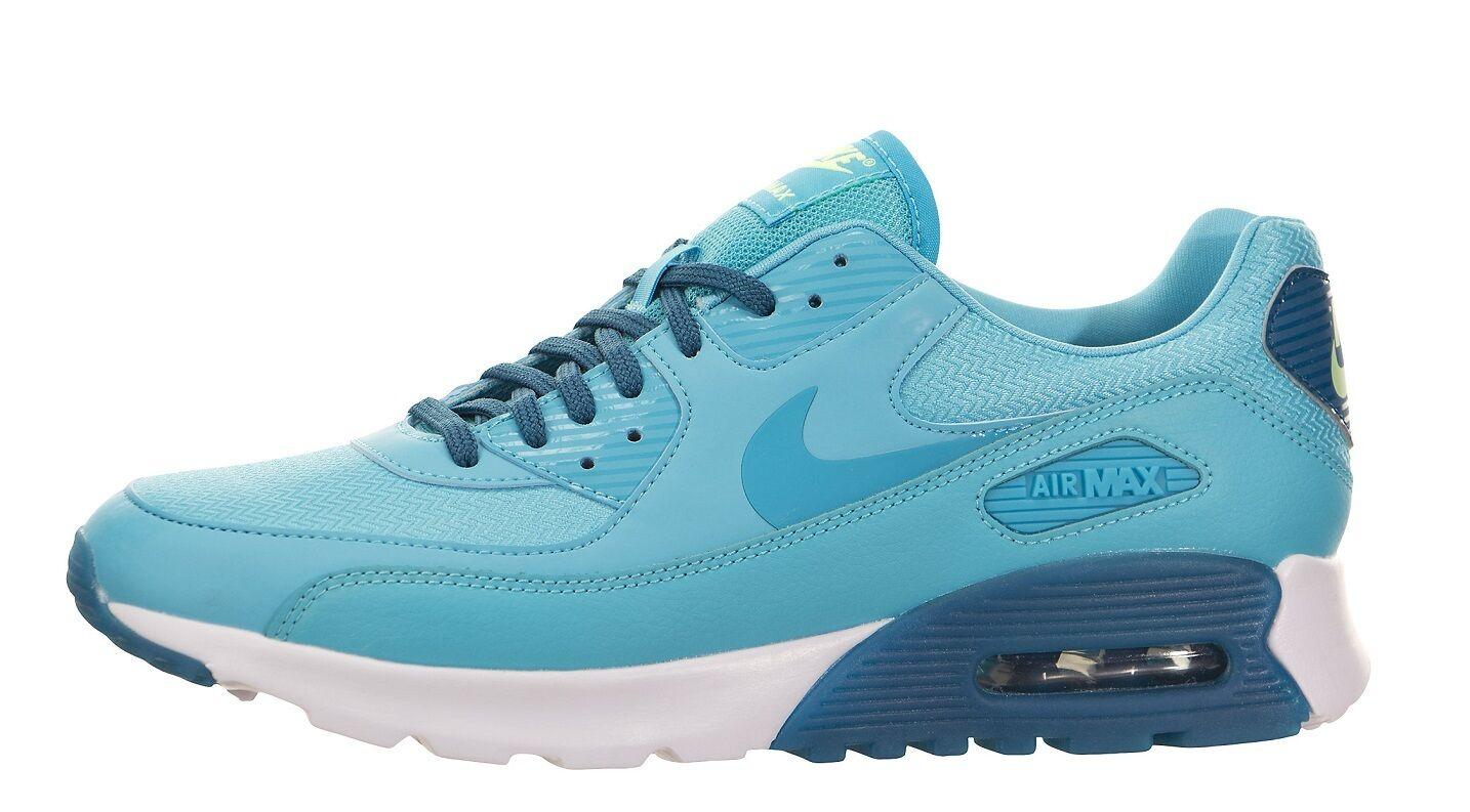 Nike Air Max 90 Ultra Ess Womens 724981-403 Gamma Blue Running Shoes Size 7.5
