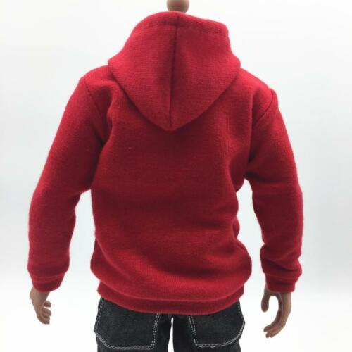 environ 30.48 cm Figures Model parts Échelle 1//6 Homme Haut à Capuche Sweat-shirt pour Hot Toys 12 in