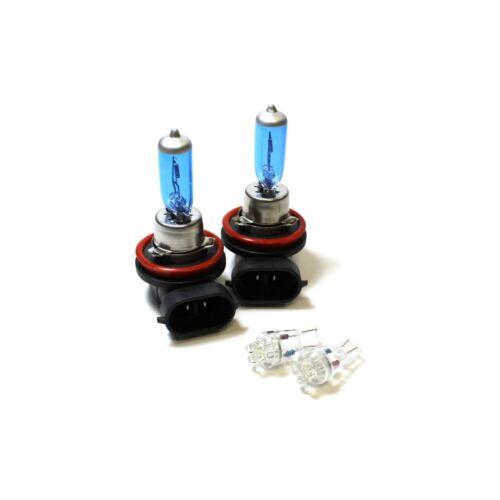 LEXUS IS MK2 H11 501 55 W Bleu Glace Xenon HID Low Dip//DEL Côté Ampoules Set