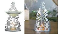 Partylite Snowflake Fragrance Siver Christmas Tree Warmer In Box