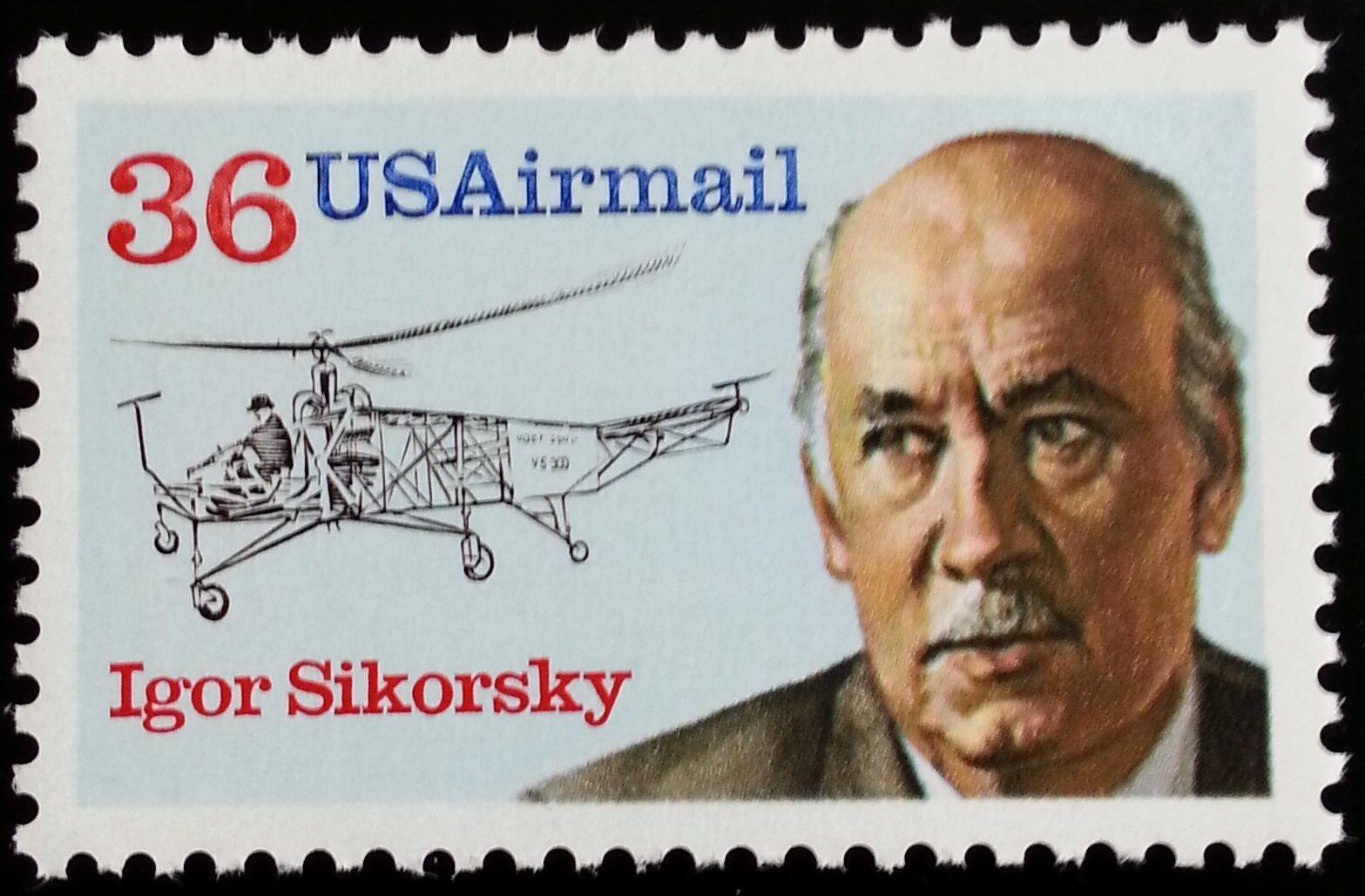 1988 36c Igor Sikorsky, Russian American Aviation Pione