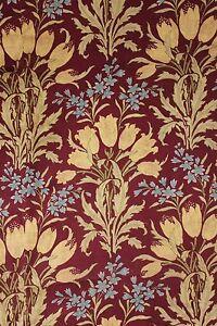 Art Nouveau Floral Design C1900 French Curtain Fabric
