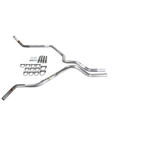Silverado 07-13 dual exhaust 2.5 MA pipe No Muffler   Corner exit