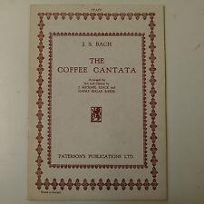 vocal score BACH coffee cantata , paterson - diack / baker ENGLISH
