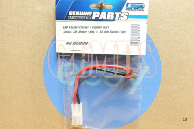 Genuine Original LRP #65839 Tamiya JST Plug to US Deans Style Connector Adapter