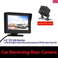 """4.3"""" TFT LCD Monitor + HD IR Night Vision Reversing Camera 170°Car Rear View Kit"""