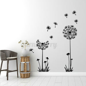 Dandelion Blowing In The Wind Modern Wall Art Sticker Decal Mural Transfer Decor