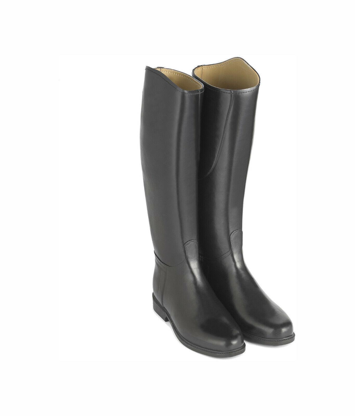 Le Chameau alezan cuir negro 44 reitbotas cuero forraje botas de goma pp
