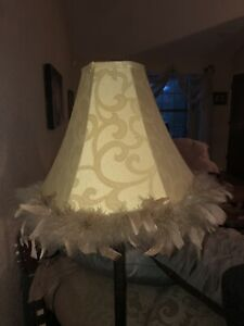 Feathered Pale Green Lamp Shade Ebay