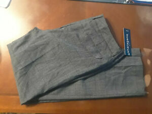 NEW Sharagano Gray Pleated Stretch Dress Pants Womens 8P NWT Closet335