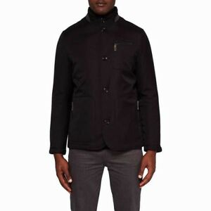 036c7561191866 NEW Ted Baker Men s Black Romeo Funnel-neck Padded Jacket - Size 6 ...