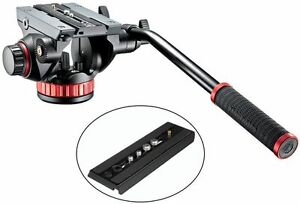 Manfrotto-MVH502AH-Pro-Video-Tripod-Head-with-Fluid-Pan-amp-Drag-System
