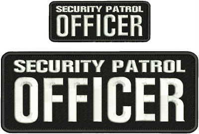 AGENT PROTECTIVE SERVICES EMBROIDERY PATCH 4X10 /& 2X5 HOOK ON BACK BLK//WHITE