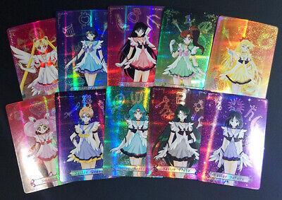 Wedding Dress Art Speckle Foil Sailor Moon Fan Made PRISM CARD SET of 9