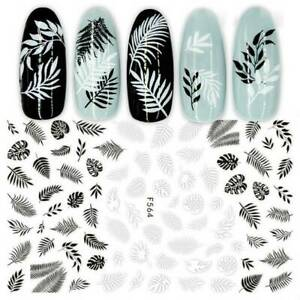 3D-Tropical-Plants-Flower-Water-Transfer-Stickers-Decal-Nail-UV-Gel-Manicure-Tip