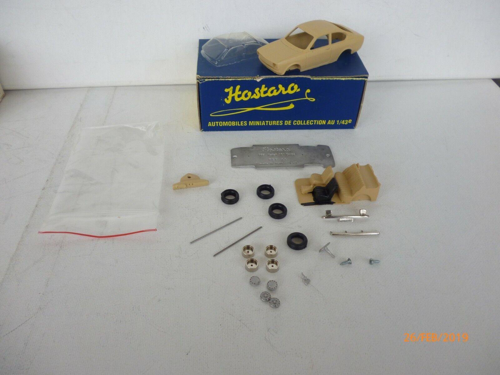 HOSTARO 44 UNBUILT KIT RESIN + METAL  OPEL KADETT C COUPE - 1 43 IN BOX  réduction en ligne