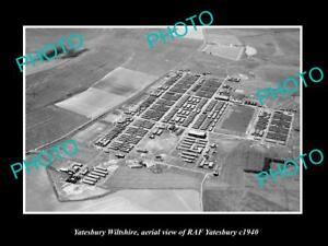 OLD-LARGE-HISTORIC-PHOTO-YATESBURY-WILTSHIRE-ENGLAND-THE-RAF-YATESBURY-c1950