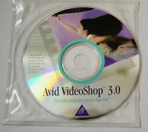 Avid-VideoShop-3-0-for-Macintosh-CD-Vtg-Computer-Software