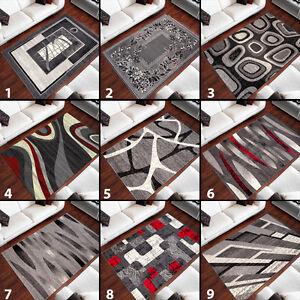 Kurzflor-Teppich-Designer-in-Grau-Modern-Rechteckig-Teppich-Wohnzimmer-Neuheit
