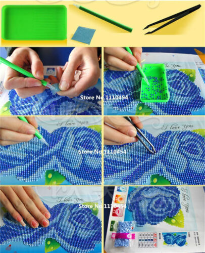 DIY 5D Embroidery Diamond Mosaic Peacock Soul Round Diamond Painting Kits Mosaic