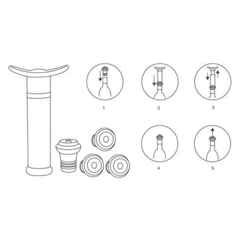 1 Satz Weinverschluss mit Vakuumpumpe Luftschleuse Luftsprudler Halten Sie WeCAP