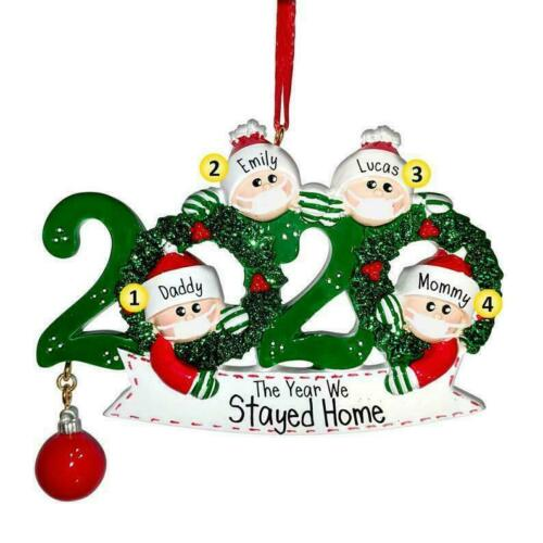 2020 Christmas Christmas tree Mask Personalized Hanging Ornament Family Gift US