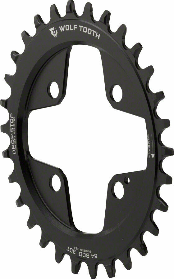 Wolf Tooth 30T Powertrac Elliptical Direct Mount Drop-Stop  Chainring 64 BCD  latest styles