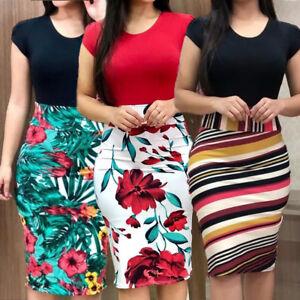 Womens-Floral-Maxi-Dress-Short-Sleeve-Evening-Party-Summer-Beach-Short-Sundress