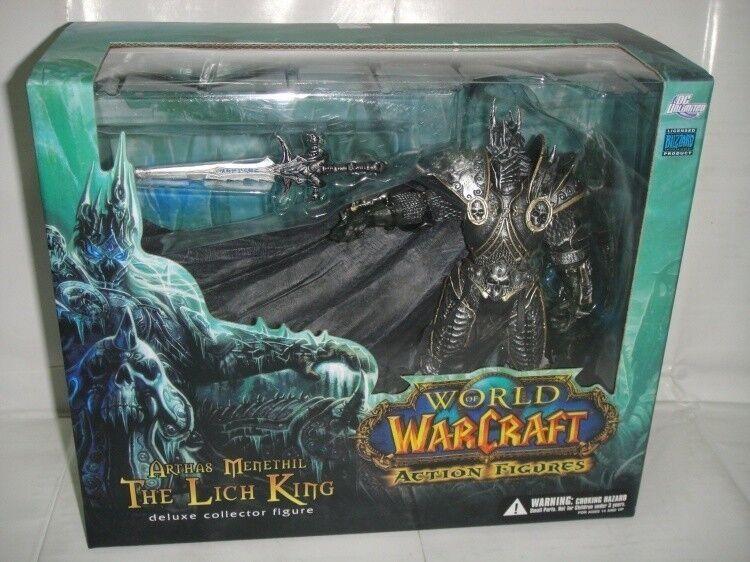 World of warcraft wow arthas menethil lichkönig deluxe sammler pvc figure - f