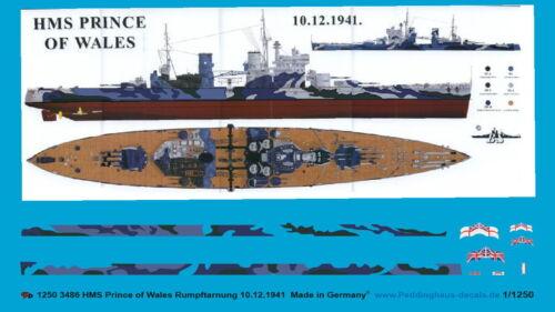 Peddinghaus 1//1250 HMS Prince of Wales Rumpftarnung 10.12.1941