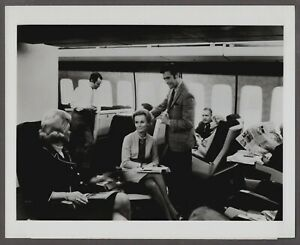 PAN AM BOEING 747 FIRST CLASS LARGE ORIGINAL VINTAGE AIRLINE PHOTO