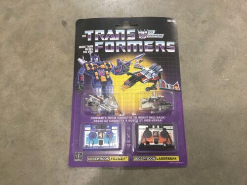 "FREE shipping! Transformers G1 reissue Decepticon ""Frenzy /& Laserbeak"" sealed"