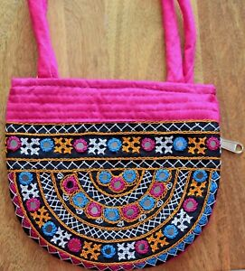 8b60fc834d Image is loading Hand-embroidered-mirror-work-cute-small-ladies-bag-