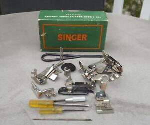 Singer-221-11-Sewing-Machine-Attachments-160809-Ruffler-Binder-Stitcher-Hemmers