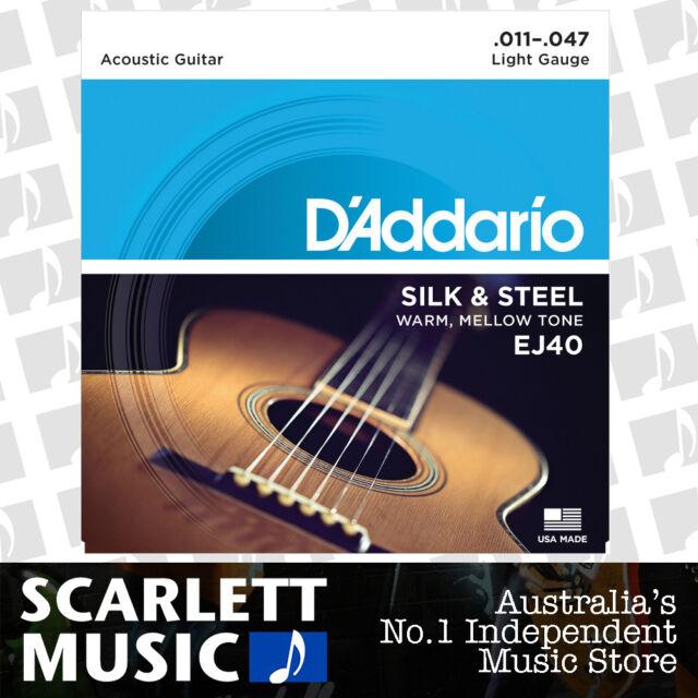 D'Addario EJ40 11-47 Light Silk / Steel Acoustic Guitar Strings Daddario EJ-40