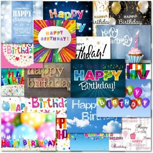 Image Is Loading Pack Of 20 Mixed Happy Birthday Cards Contempory